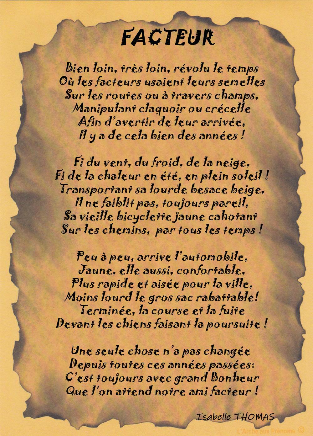 Un texte façon parchemin dans un sous-verre sur un Facteur (trice)