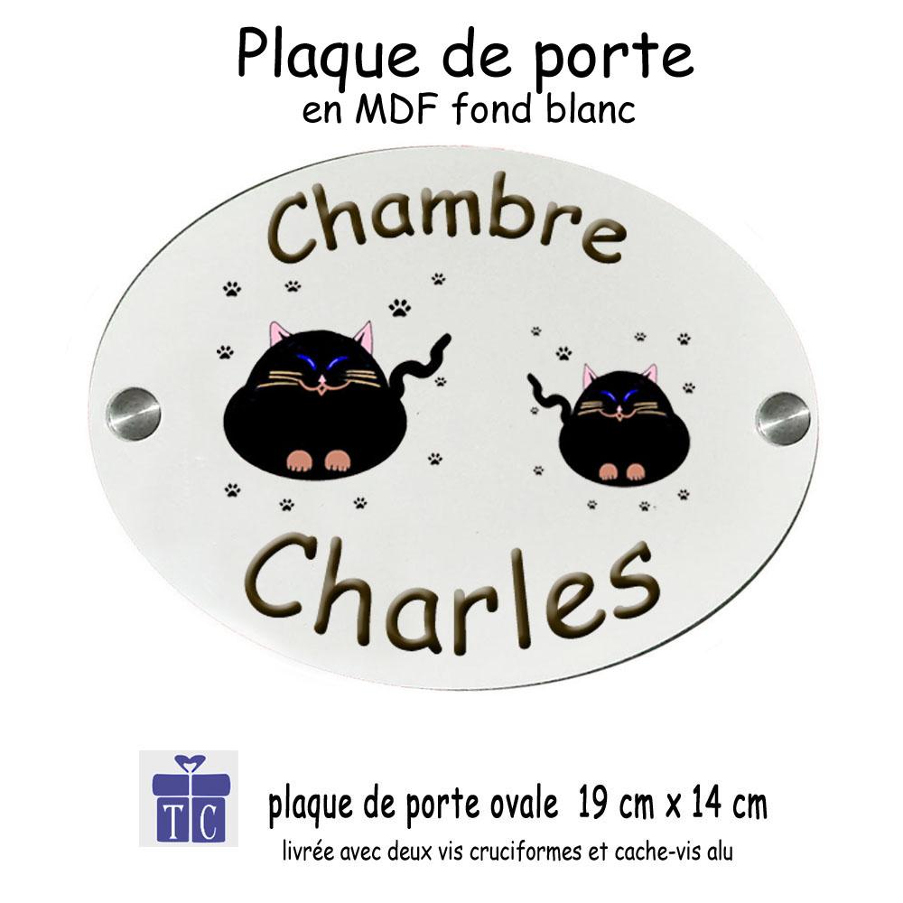 Plaque de Porte Chat