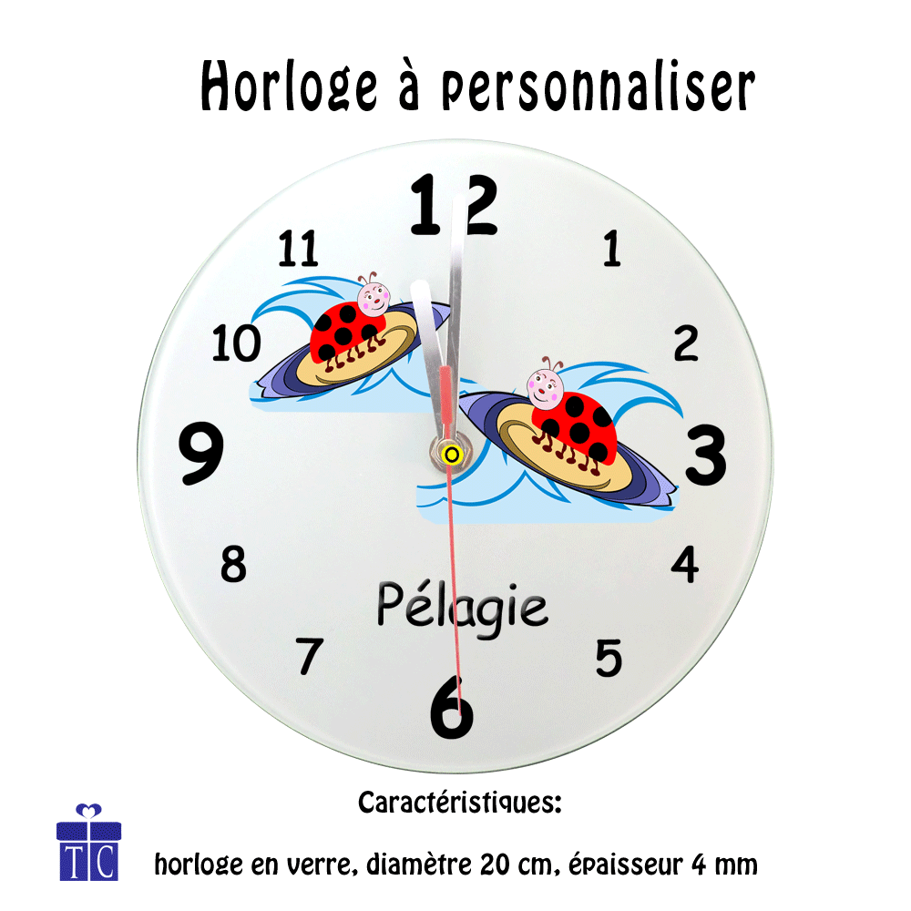 Horloge Coccinelle surf
