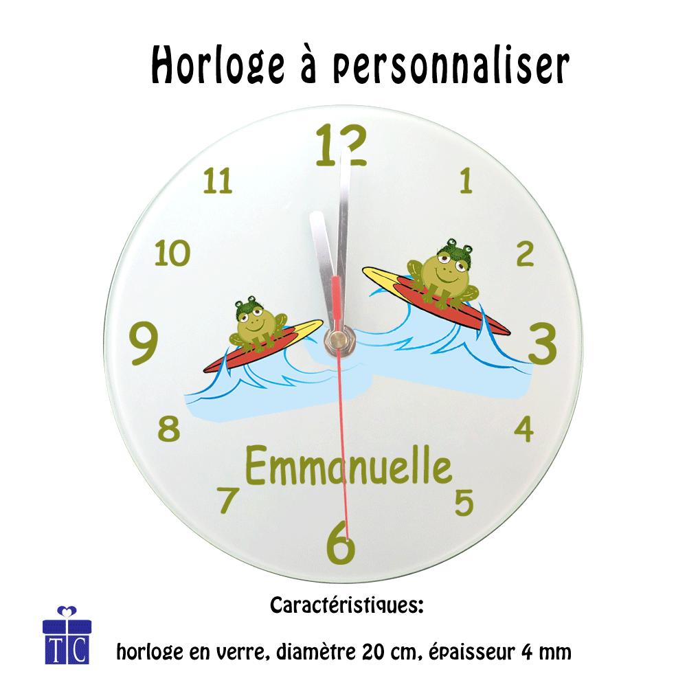 Horloge Grenouille surf