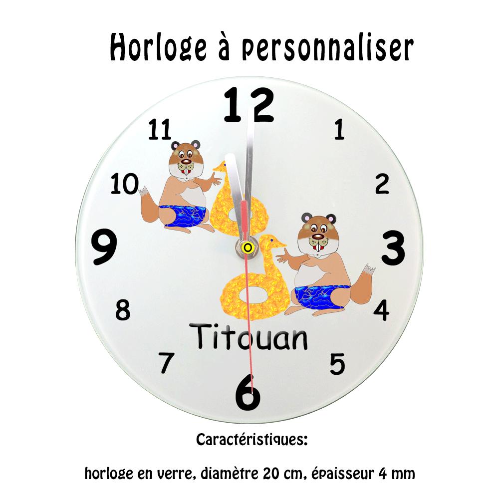 Horloge Marmotte Bouée