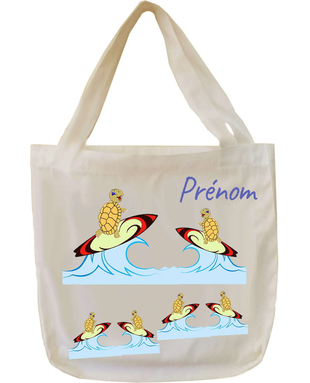 Tote bag Tortue surf
