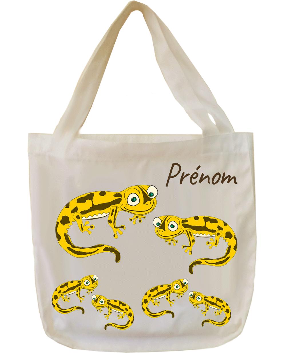 Tote bags salamandre couleur