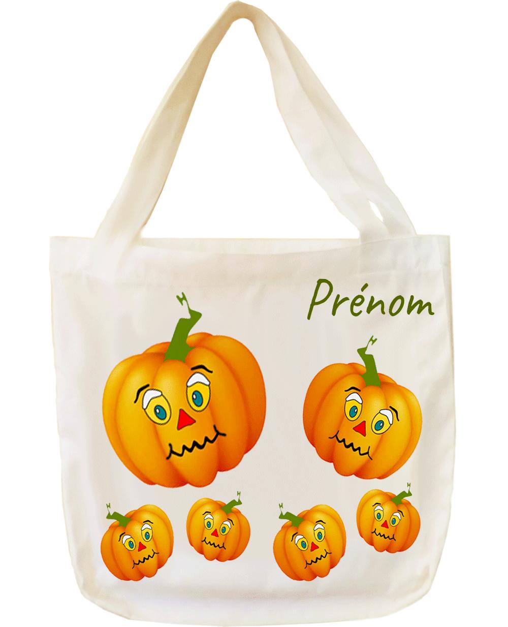 tote-bag;sac;cabas;texti;cadeaux;personnalisable;personnalisation;personnalise;prenom;legume;citrouille;halloween