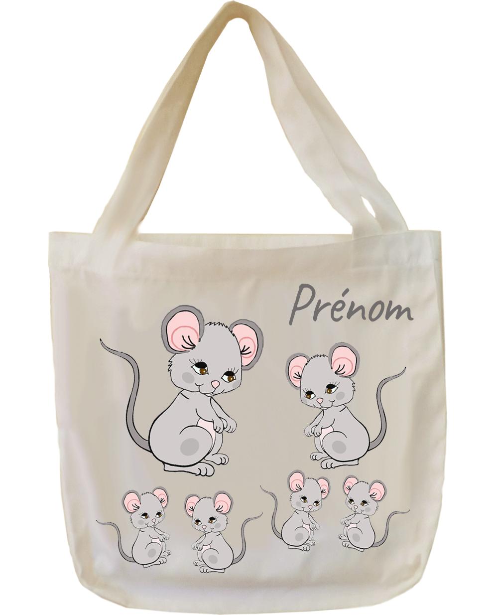 tote-bag;sac;cabas;texti;cadeaux;personnalisable;personnalisation;personnalise;prenom;animal;souris