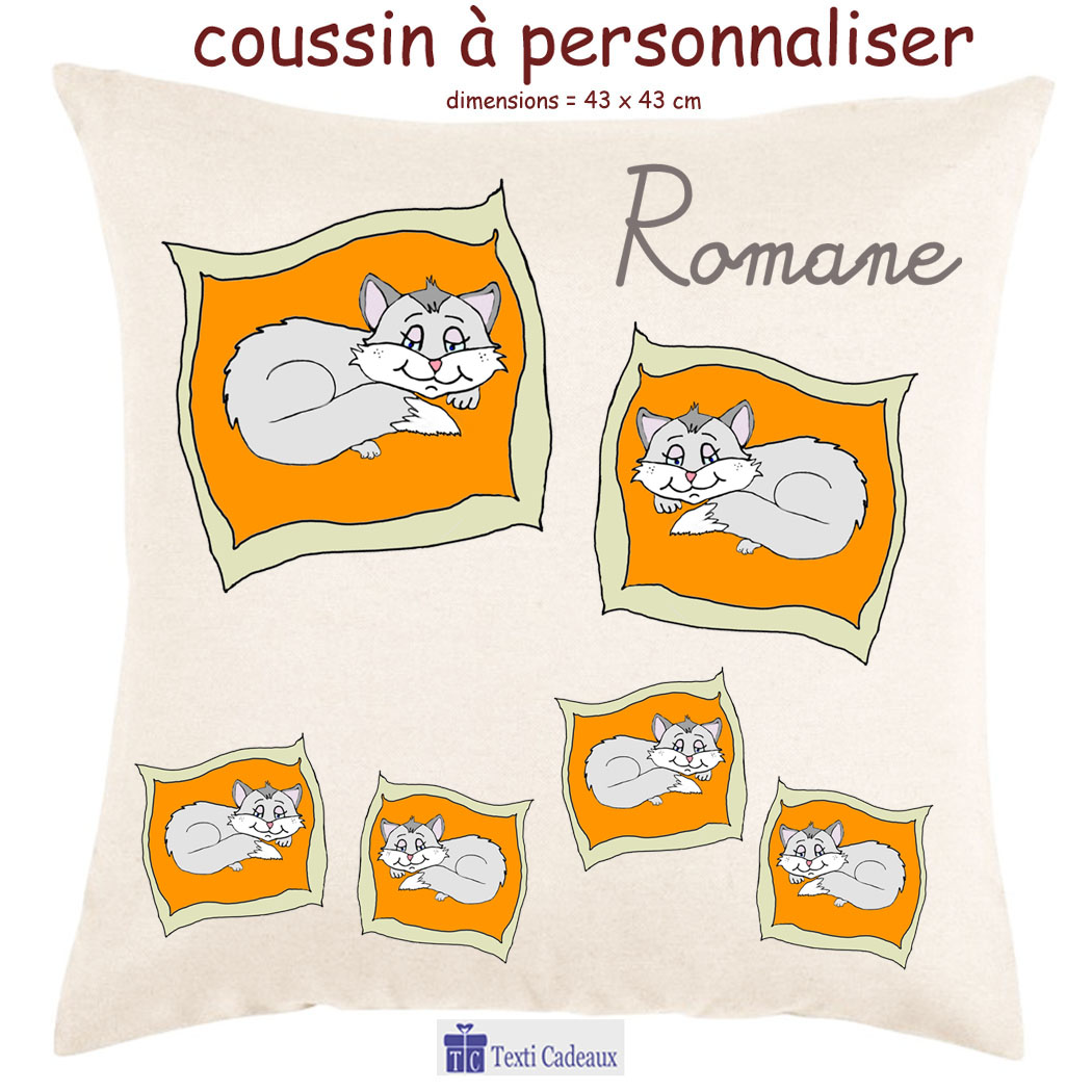 Coussin Chat Romane