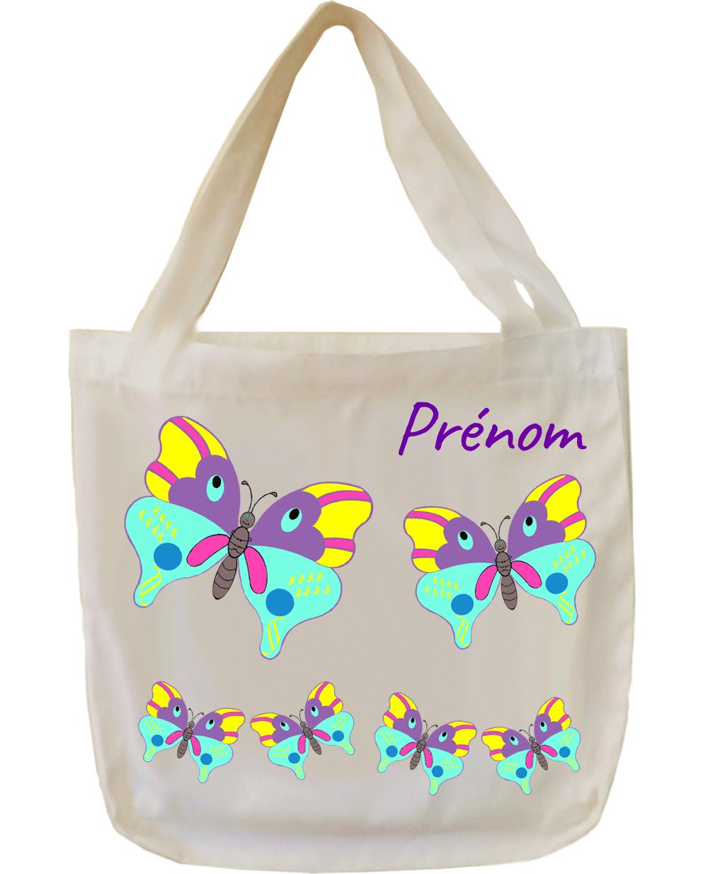 tote-bag;sac;cabas;texti;cadeaux;personnalisable;personnalisation;personnalise;prenom;animal;papillon