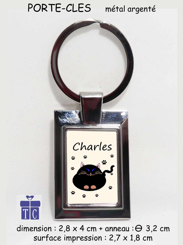 Porte clés Chat à personnaliser