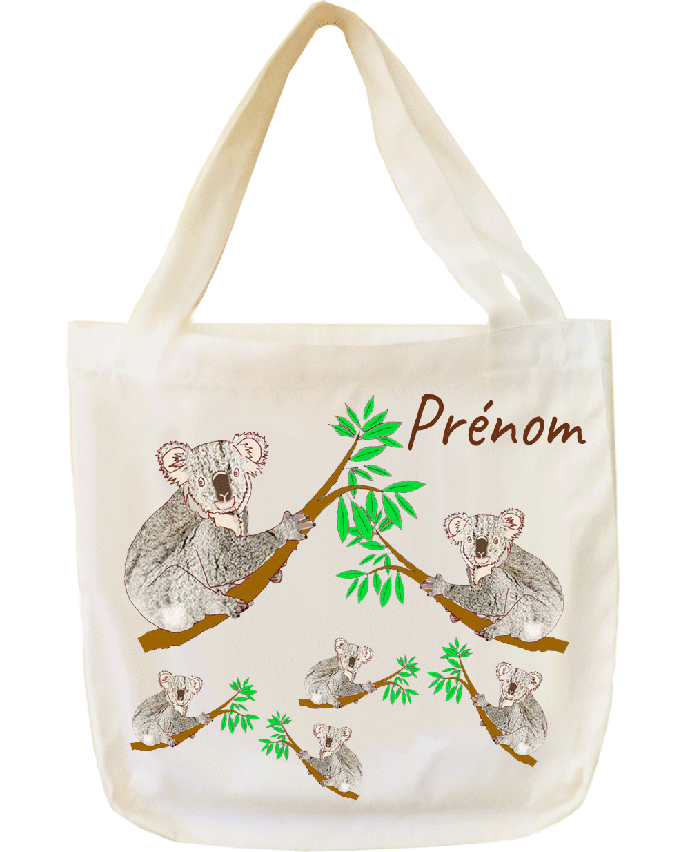 tote-bag;sac;cabas;texti;cadeaux;personnalisable;personnalisation;personnalise;prenom;animal;koala
