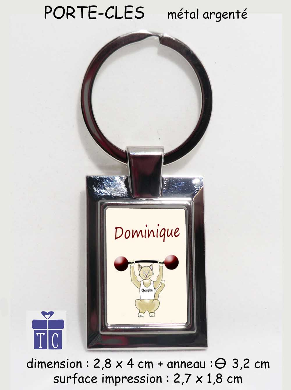 Porte clés Chat Haltère