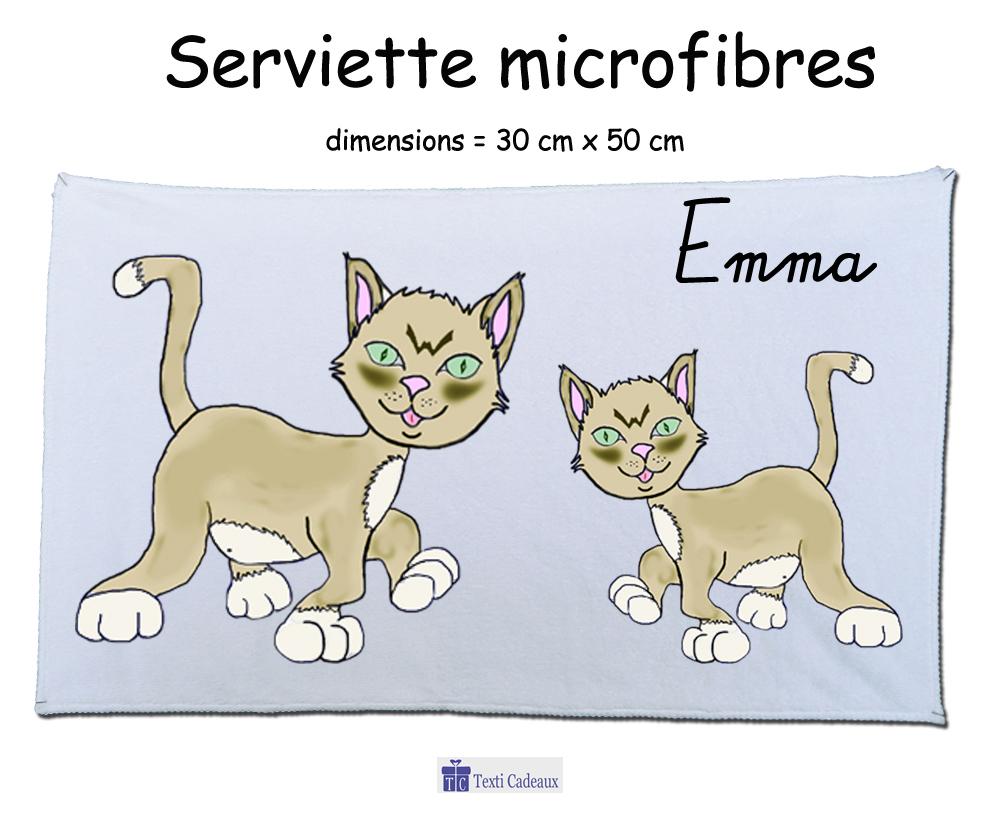 Essuie mains Chat Emma à personnaliser