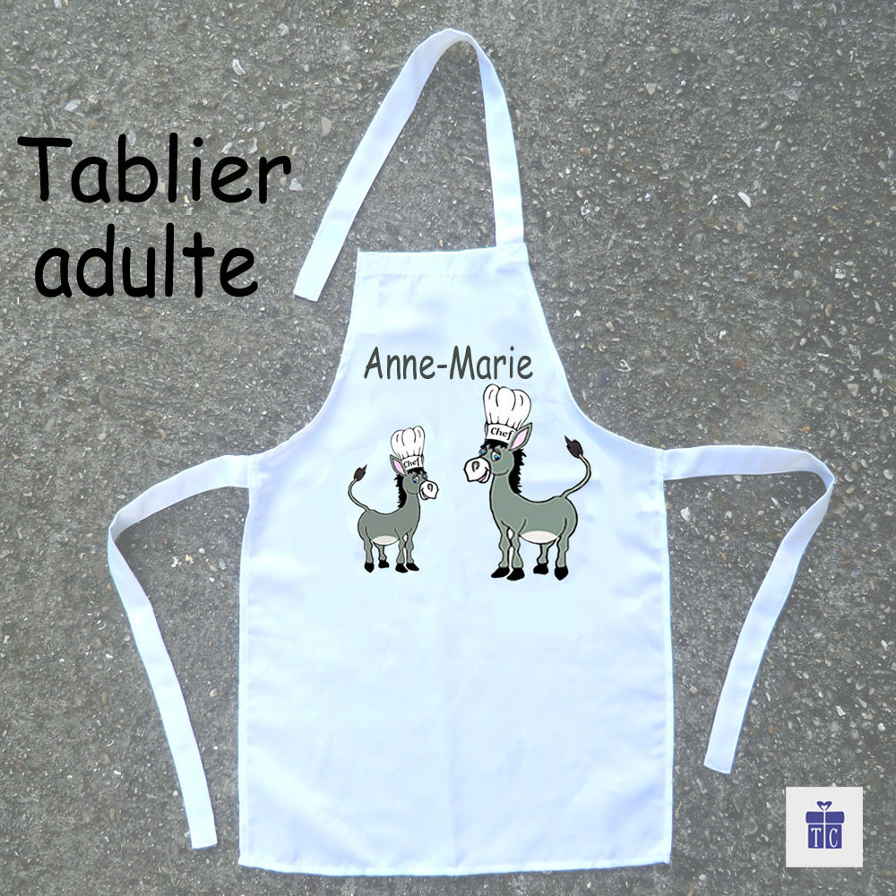 Tablier cuisine adulte Âne