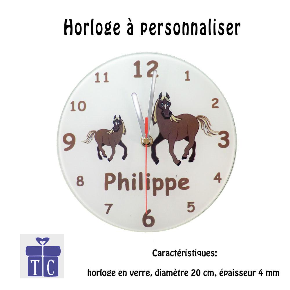 Horloge Cheval à personnaliser