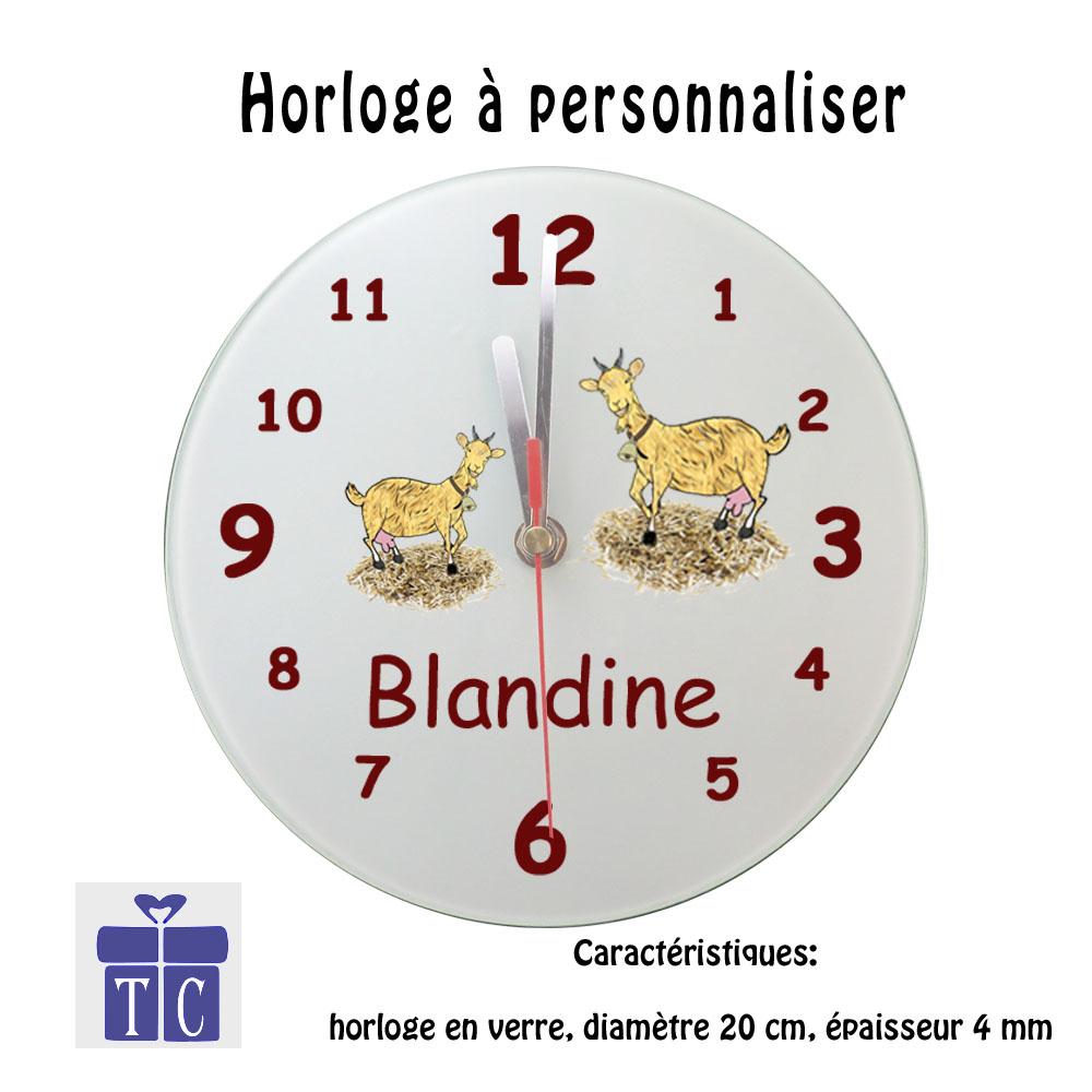 Horloge Chèvre à personnaliser