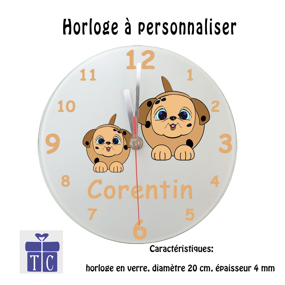 Horloge chien Corentin
