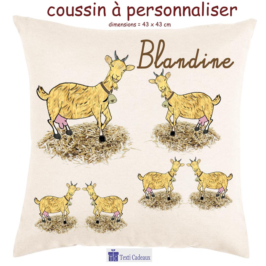 Coussin Chèvre à personnaliser