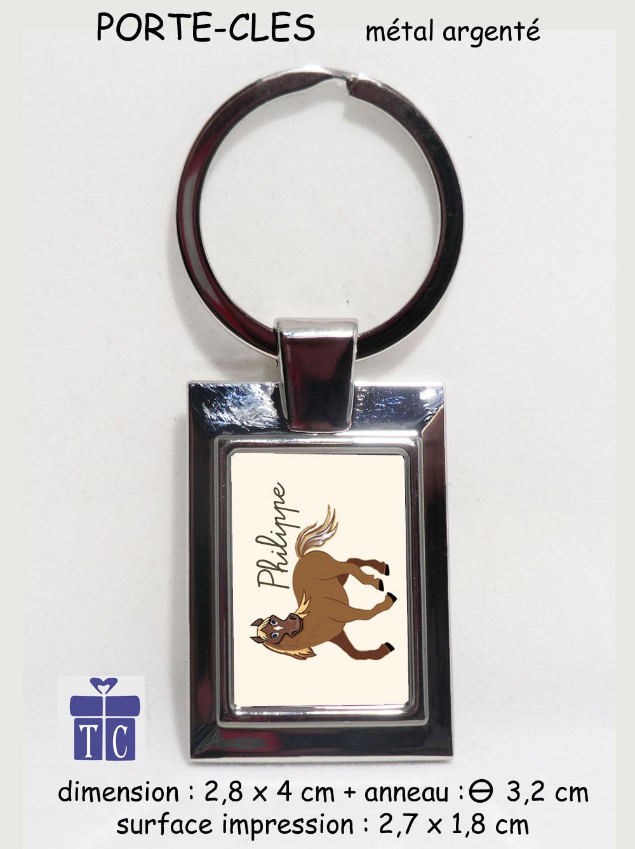 Porte clés Cheval à personnaliser