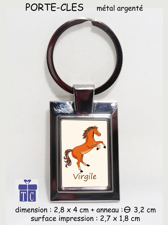 Porte clés Cheval cabré à personnaliser