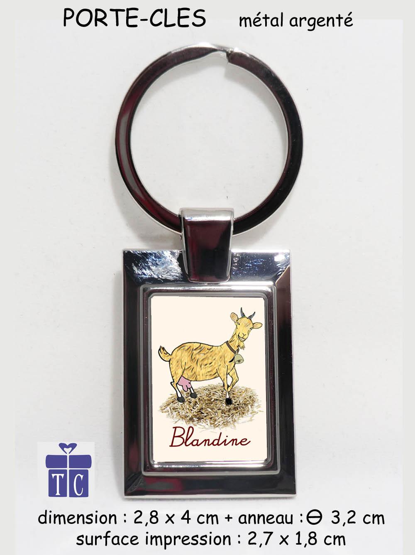 Porte clés Chèvre à personnaliser