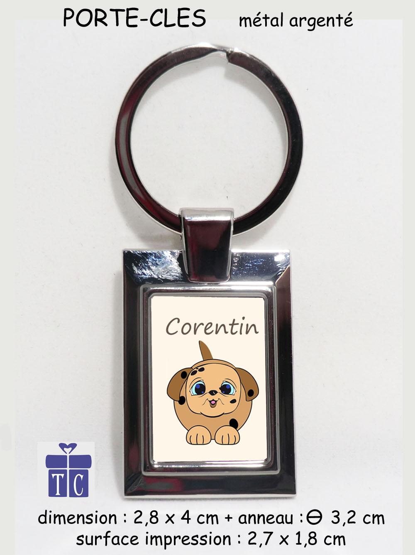 Porte clés Chien à personnaliser