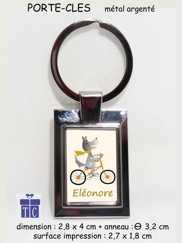 Porte clés Chien à vélo