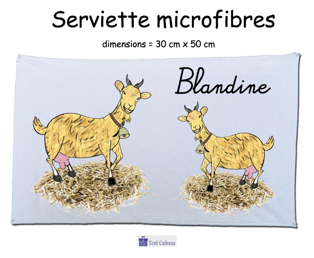 Essuie mains Chèvre à personnaliser