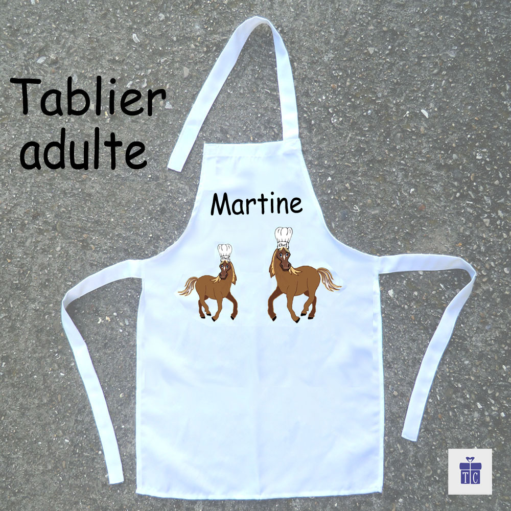 Tablier cuisine adulte Cheval