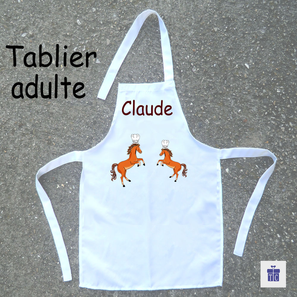 Tablier cuisine adulte Cheval cabré