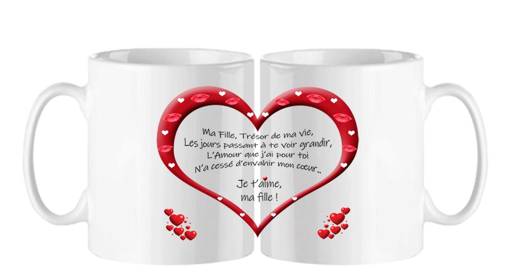 mug;blanc;ceramique;coeur;famille;amour;phrase;ma-fille;tresor;ma-vie