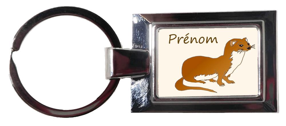 Porte clés Belette à personnaliser avec un prénom exemple Elisabeth