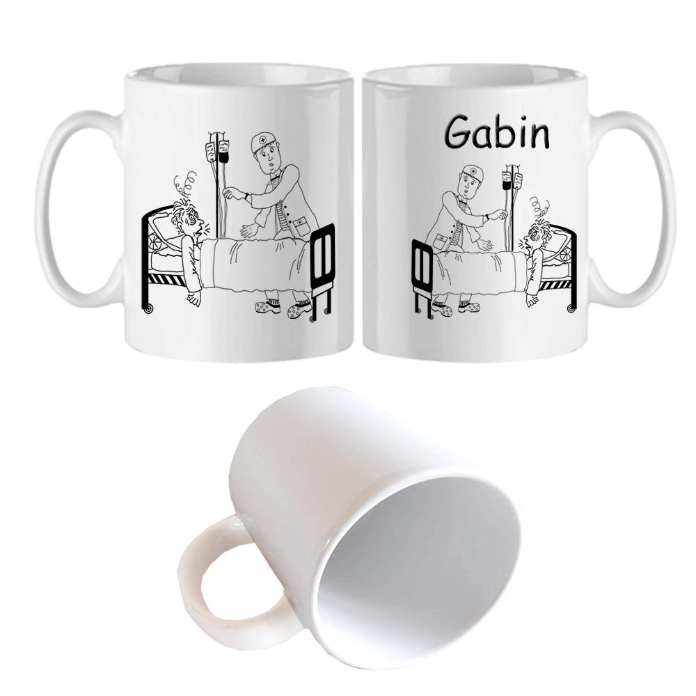 Mug Infirmier Personnalisable avec un Prénom Exemple Gabin