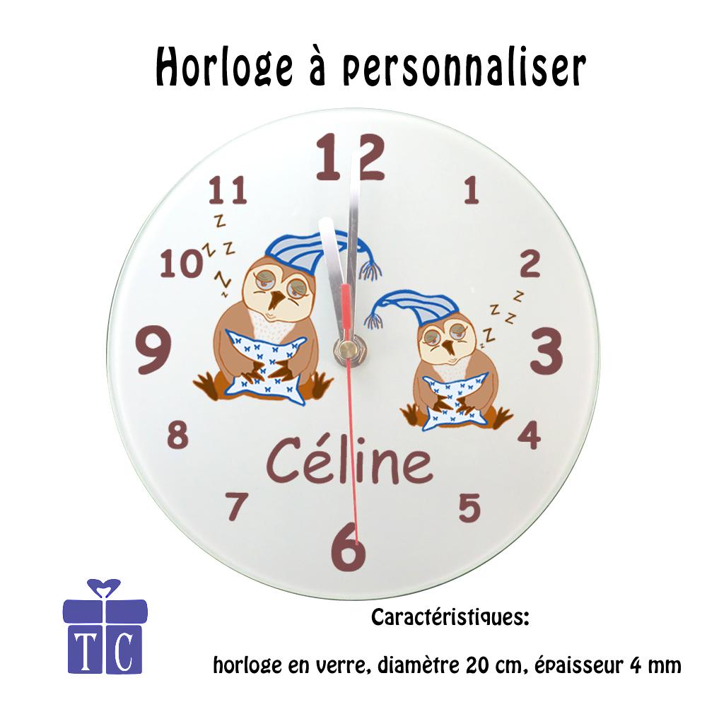 Horloge Chouette bonnet