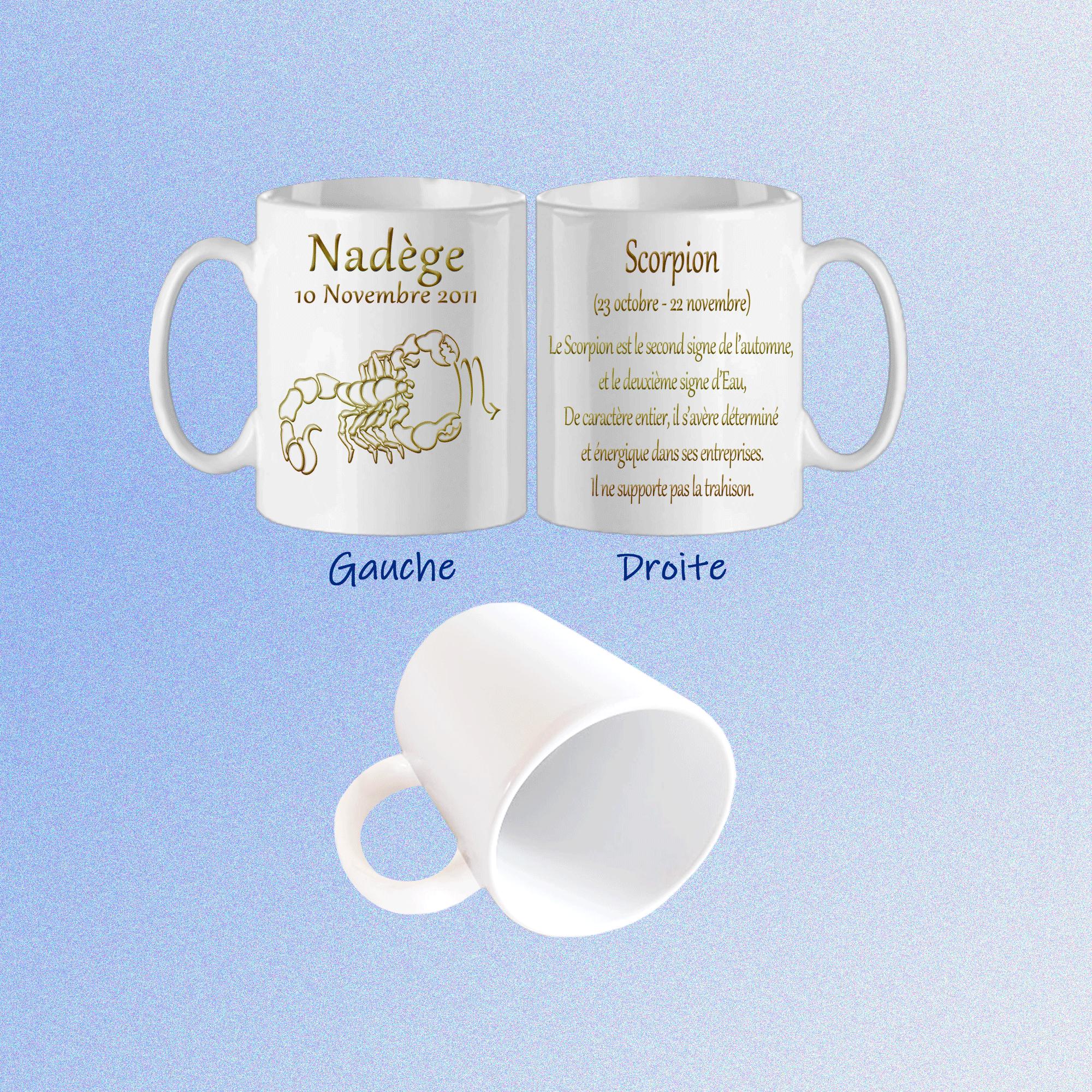 mug-texticadeaux-blanc-astrologie-zodiaque-scorpion-personnalise-personnalisation-personnalisable-date-naissance-prenom-nadege