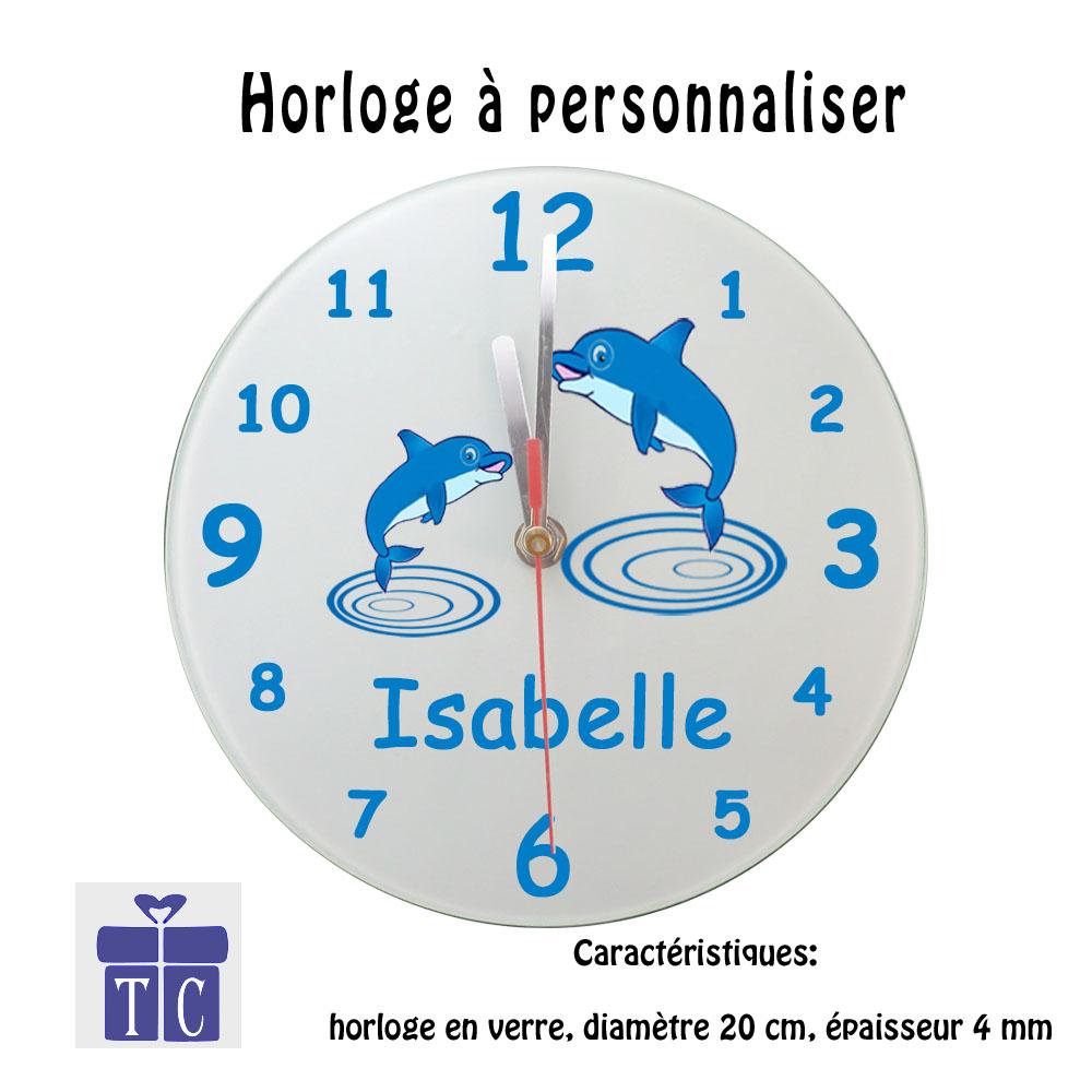 Horloge Dauphin à personnaliser