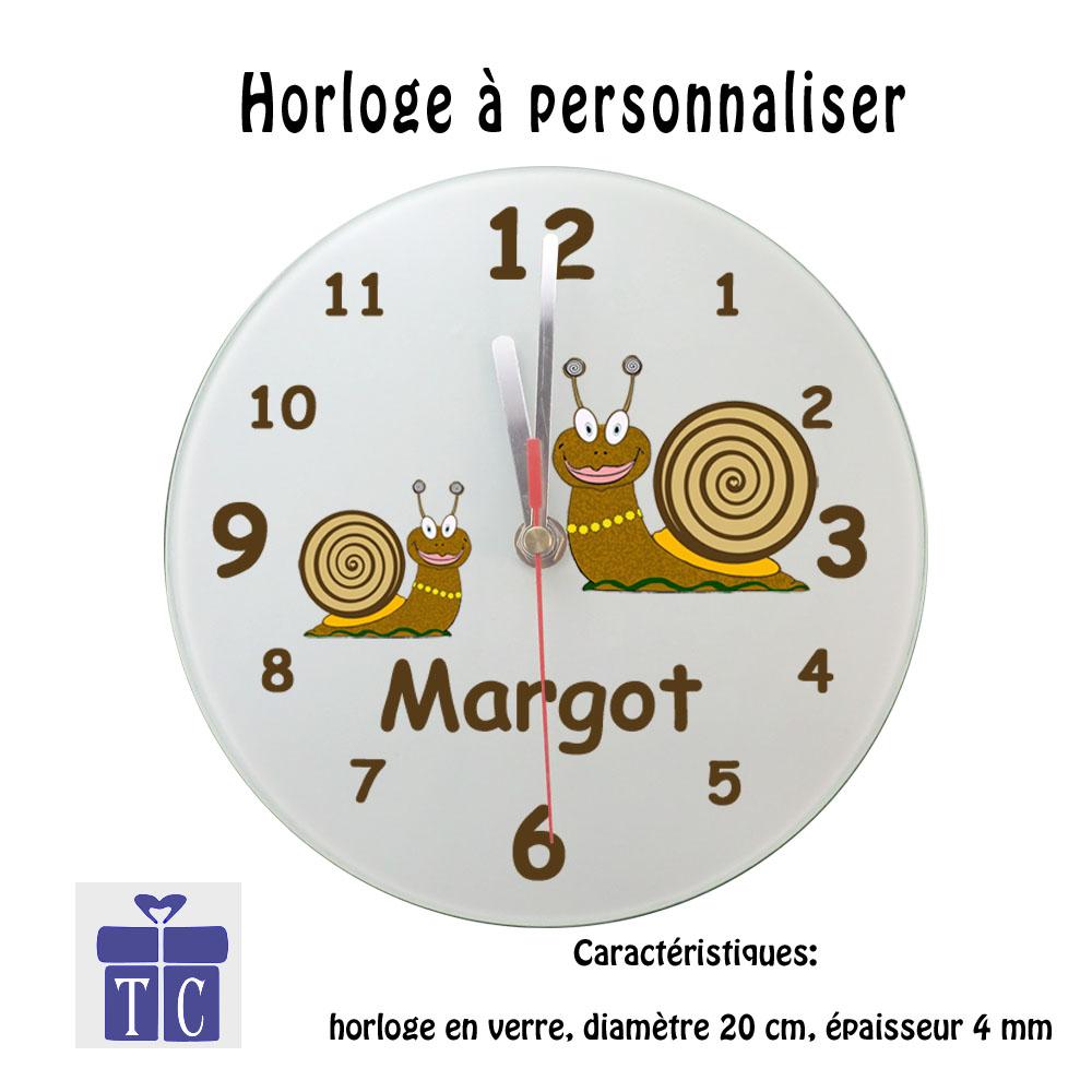 Horloge Escargot à personnaliser