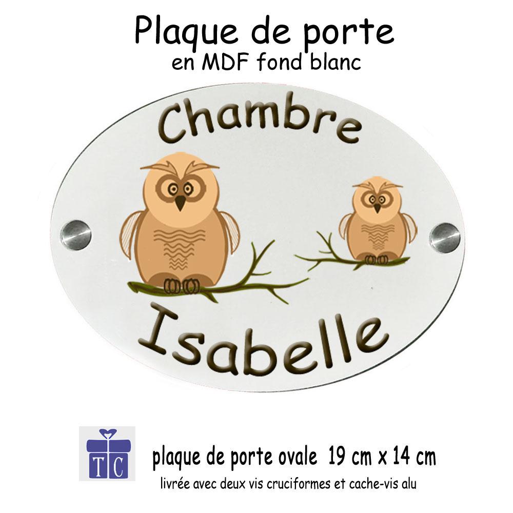 Plaque de Porte Chouette