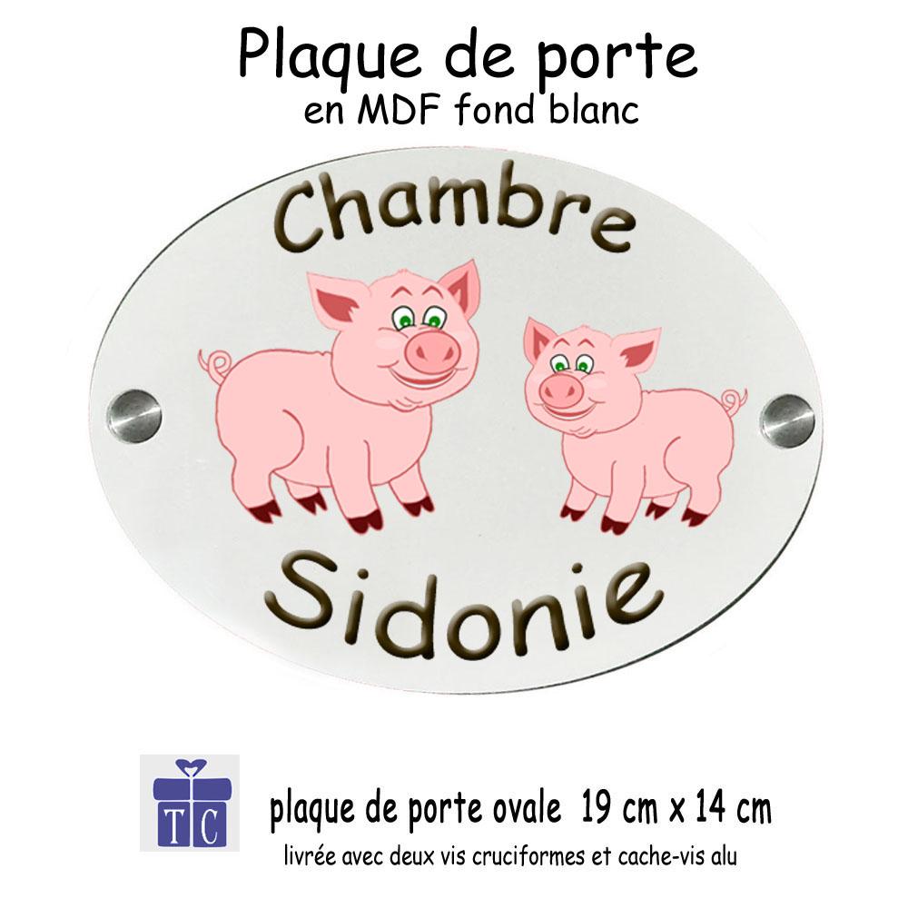Plaque de Porte Cochon