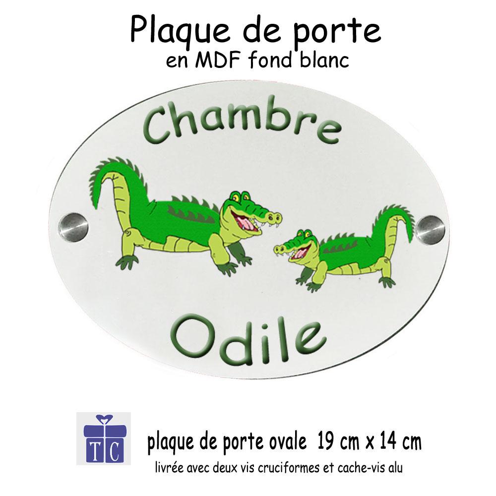 Plaque de Porte Crocodile à personnaliser