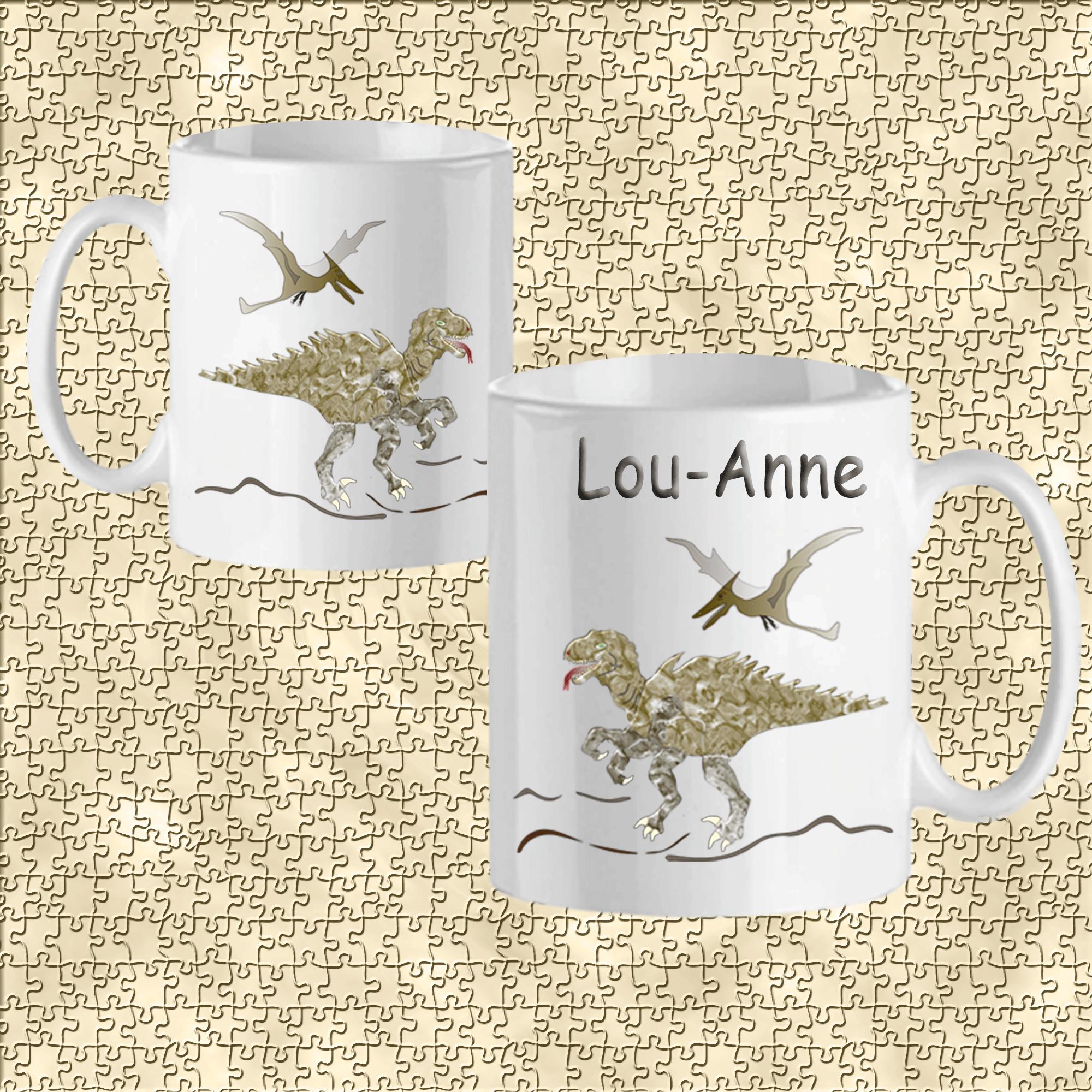 mug-dinosaure-prenom-personnalisable-personnalisation-personnalise-blanc-ceramique-tasse-prehistoire-reptilien-jurassique-lezard-lou-anne