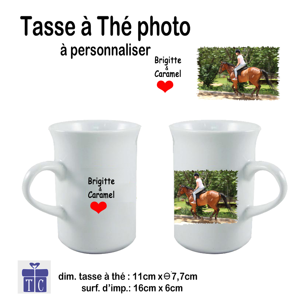 Mug à Thé personnalisable avec une photo