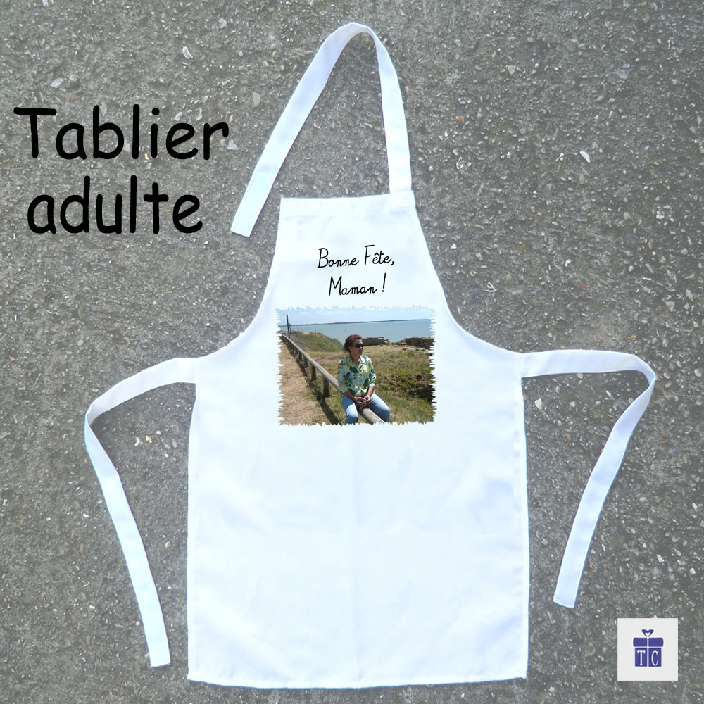 Tablier cuisine adulte avec Photo