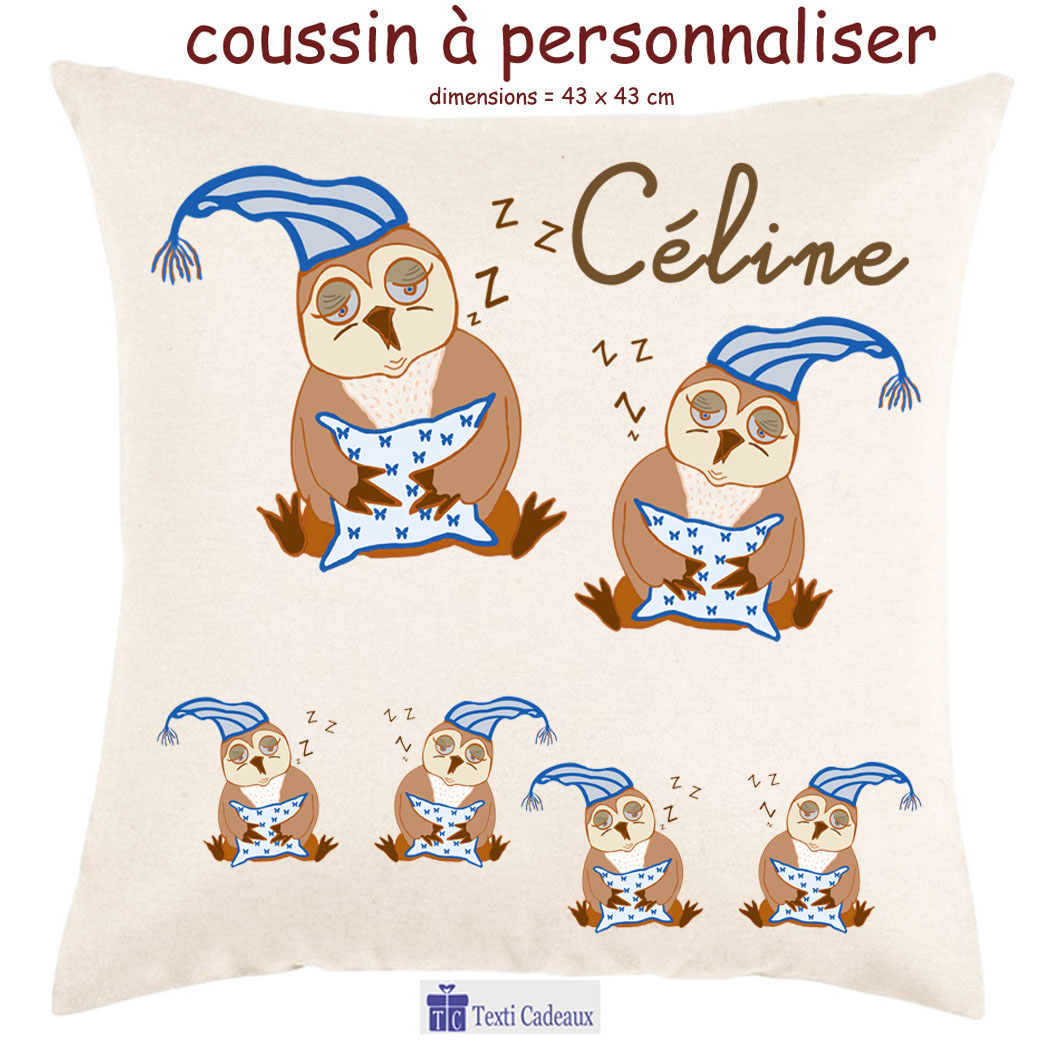 Coussin Chouette Bonnet