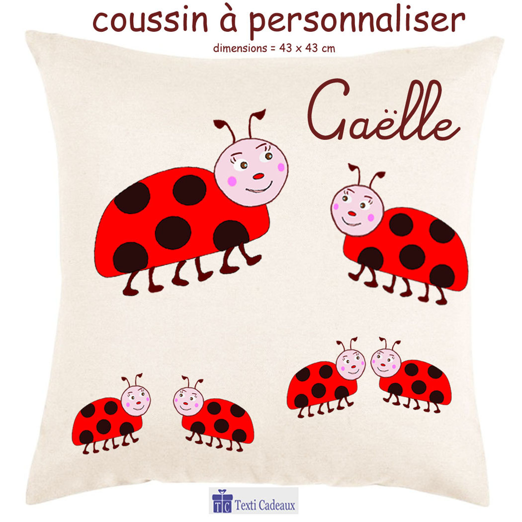 Coussin Coccinelle