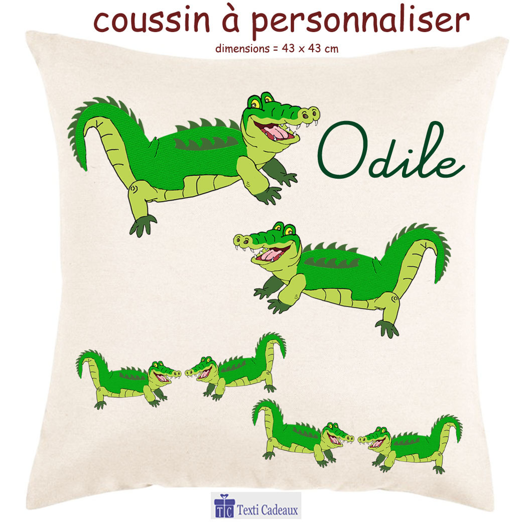 Coussin Crocodile