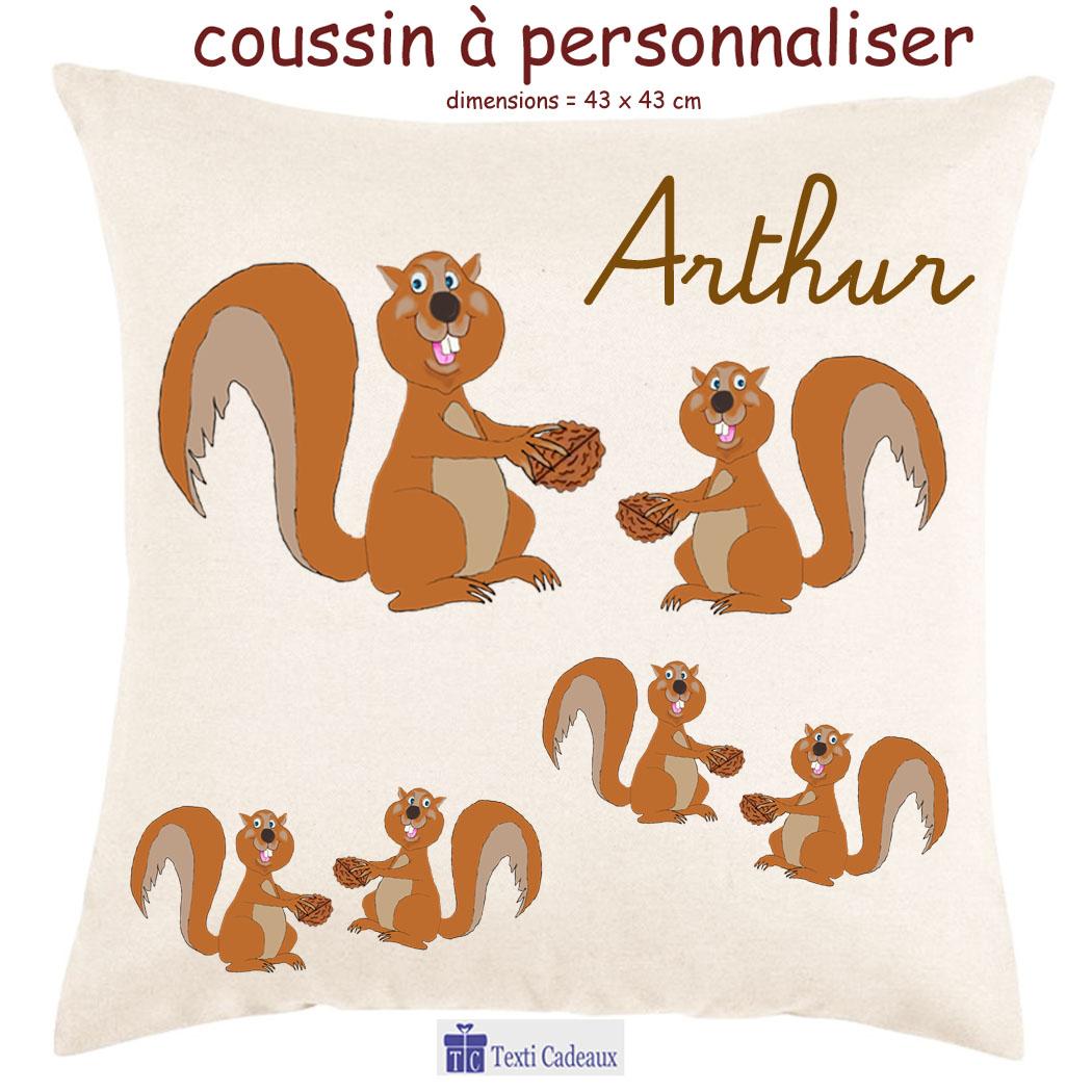 Coussin Ecureuil