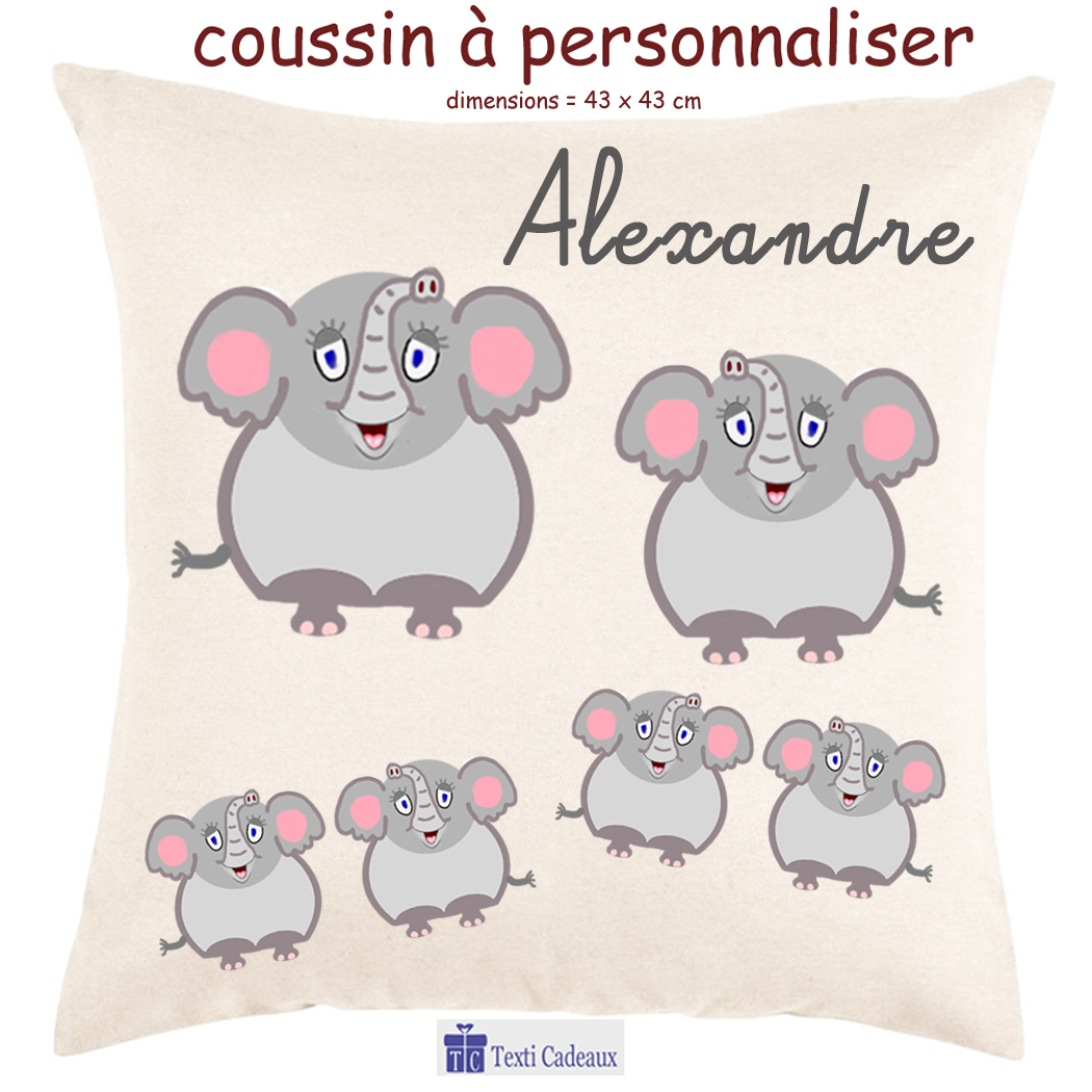 Coussin Elephant
