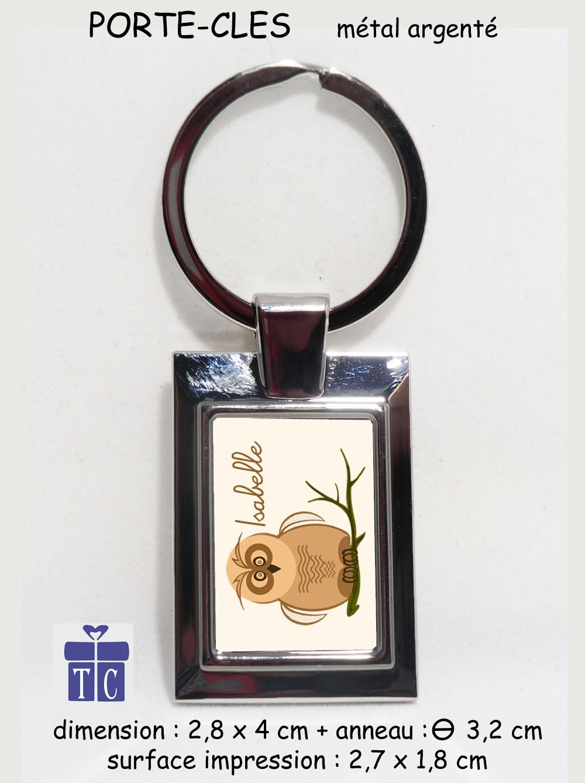 Porte clés Chouette à personnaliser