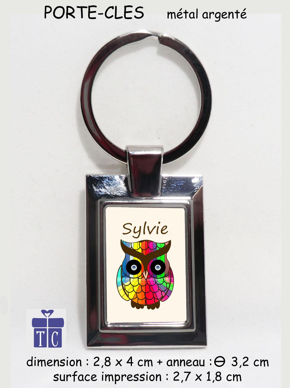 Porte clés Chouette Multicolore à personnaliser