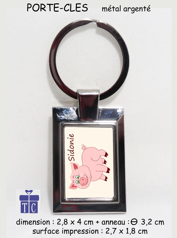 Porte clés Cochon à personnaliser