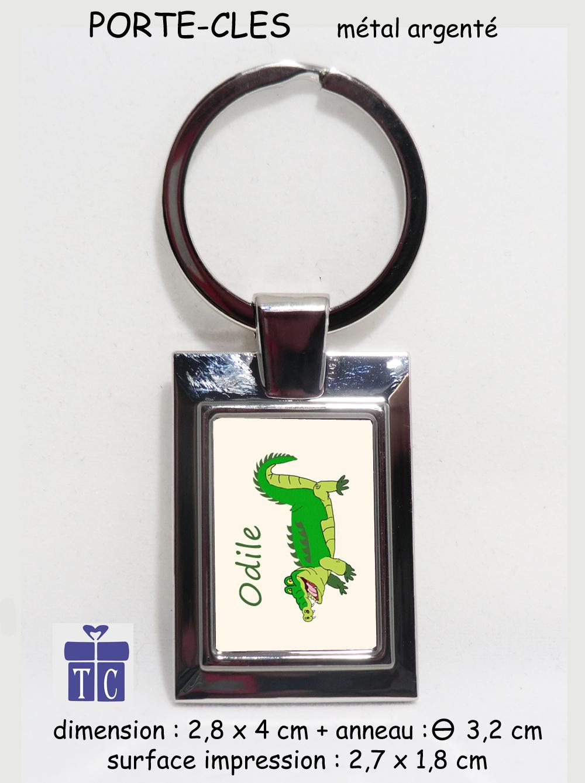 Porte clés Crocodile à personnaliser